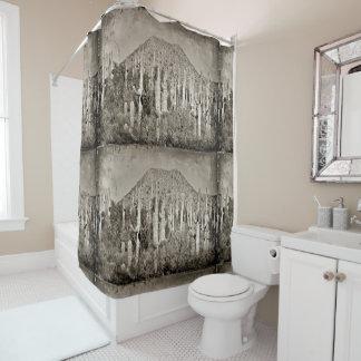 Rideau en douche vintage de salle de bains de