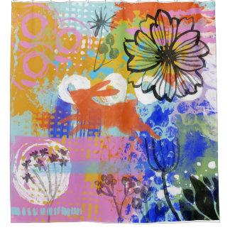 Rideaux De Douche Abrégé sur chic minable peinture de fleur de lapin