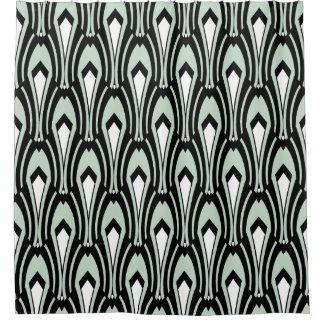 Rideaux De Douche Art déco noir et blanc sur la Mer-Mousse faite sur