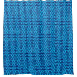 Rideaux De Douche Bleu-Cru-Plaisir-Bain-Décor