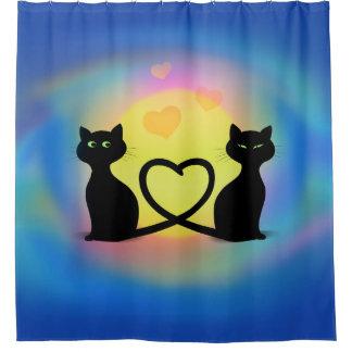 Rideaux De Douche Chats dans l'amour