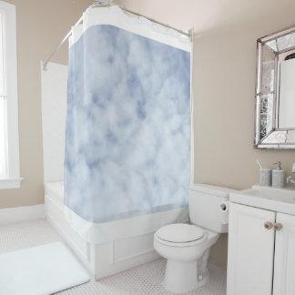 Rideaux De Douche Ciel bleu en pastel nuageux 0155 de joli ressort