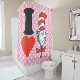 Rideaux De Douche Coeur de Dr. Seuss Valentine | I le chat dans le