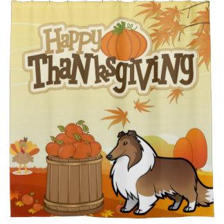 Rideaux De Douche Colley rugueux de bon thanksgiving