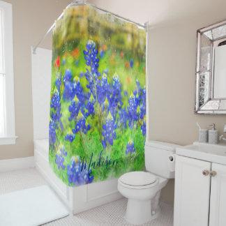 Rideaux De Douche Coutume florale de Bluebonnet chic minable