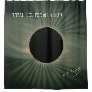 Rideaux De Douche Dessins de Trouvelot - éclipse totale du Sun