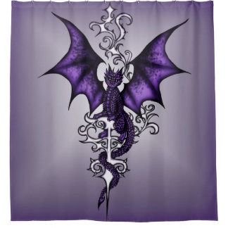 Rideaux De Douche Dragon d'ornement