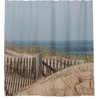 Rideaux De Douche Dunes de sable et barrière de plage