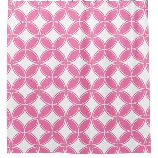 Rideaux De Douche Fleur de motif rose et blanc de la vie