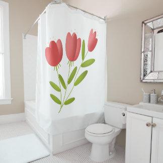 Rideaux De Douche fleurs rouges