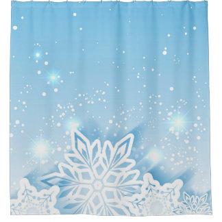 Rideaux De Douche flocons de neige à trois dimensions