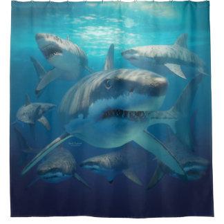 Rideaux De Douche Grands requins blancs