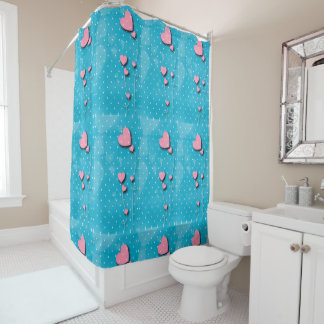 Rideaux De Douche Il tapisse pour salle de bain des «Ballons de