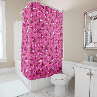 Rideaux De Douche Modèle rose de pavots floraux