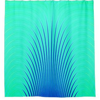 Rideaux De Douche Motif abstrait chic bleu et vert