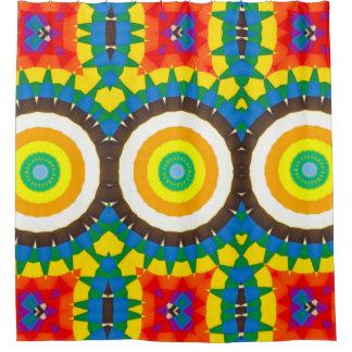 Rideaux De Douche Motif coloré de point de kaléidoscope