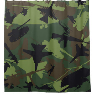 Rideaux de douche Camouflage | Zazzle.fr