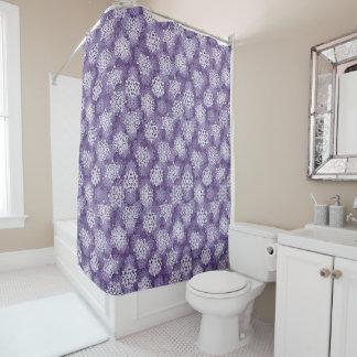 Rideaux De Douche Motif violet de flocons de neige