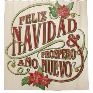 Rideaux De Douche Nuevo d'ano de Prospero de Feliz Navidad y