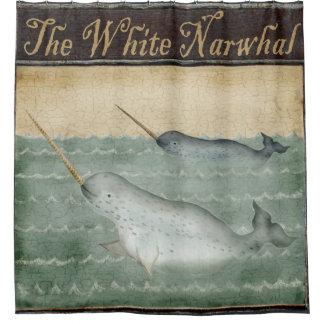 Rideaux De Douche Océan maritime nautique de mer de Narwhal de