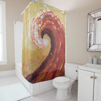 Rideaux De Douche Peinture abstraite de beaux-arts de vague de plage