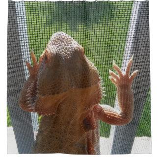 Rideaux De Douche Photo barbue mignonne de dragon au soleil