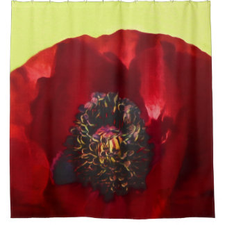 Rideaux De Douche Photo florale élégante chic classique de pavot