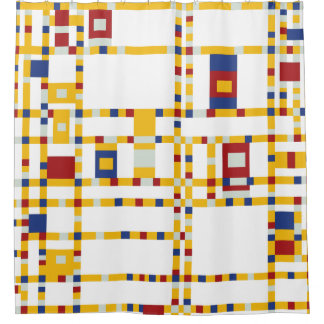 Rideaux De Douche Piet Mondrian - art moderne de Woogie de boogie de
