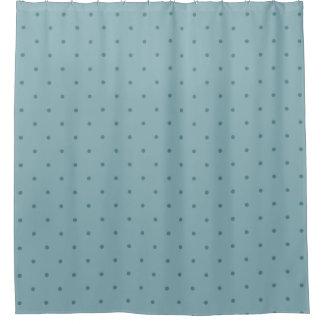 Rideaux De Douche Pois bleu-vert sur une couleur turquoise plus