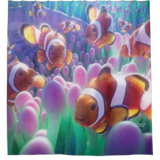Rideaux De Douche Poissons Nemo de clown