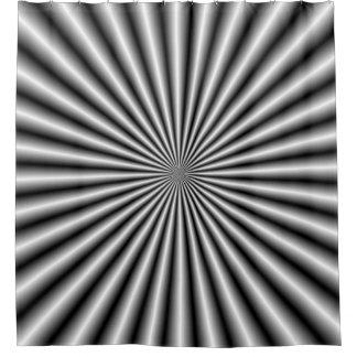 Rideaux De Douche Rayons en noir et blanc