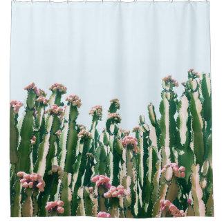 Rideaux De Douche Rougissent le cactus