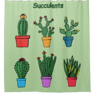 Rideaux De Douche Succulents #1