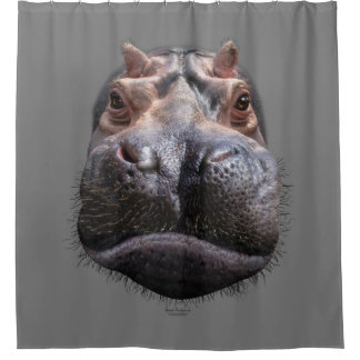 Rideaux De Douche Tête d'hippopotame