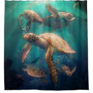 Rideaux De Douche Tortues de mer