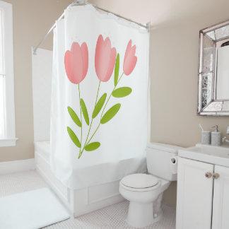 Rideaux De Douche tulipes rose