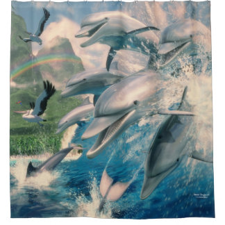 Rideaux De Douche Vague de dauphin