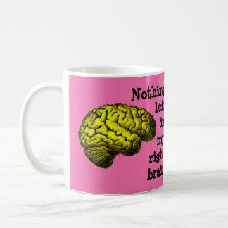 Rien laissé dans mon cerveau droit… mug