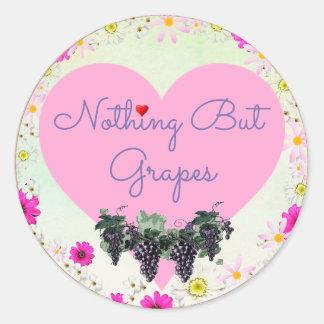 Rien mais autocollant de raisins