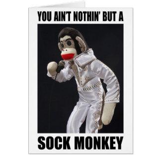 Rien mais une carte de voeux de singe de
