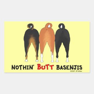Rien n aboutent Basenjis Autocollants Rectangulaires