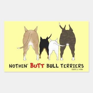 Rien n'aboutent des bulls-terrier autocollants rectangulaires