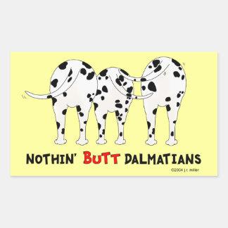 Rien n'aboutent des Dalmates Autocollants En Rectangle