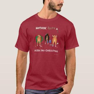 Rien n'aboutent Noël de Shiba Inu T-shirt