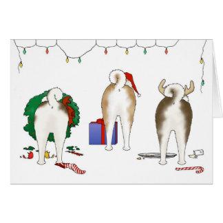 Rien n'aboutent une carte de voeux de Noël d'Akita