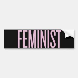Rien n'aiment le féminisme pendant le matin autocollant pour voiture
