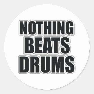 Rien ne bat des tambours sticker rond