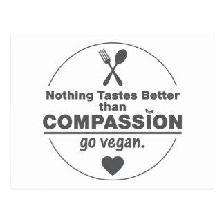 Rien ne goûte mieux que la compassion vont carte postale