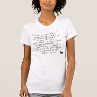RIESE  ++  Détresse du manuscrit de la femme T-shirt