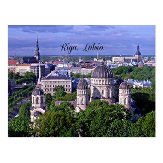 Riga, paysage urbain de la Lettonie Carte Postale